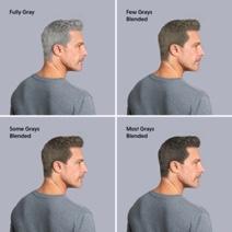 Man showing gradual blending grays